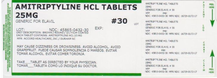 Amitriptyline Hydrochloride Tablet, Film Coated [Medsource Pharmaceuticals]
