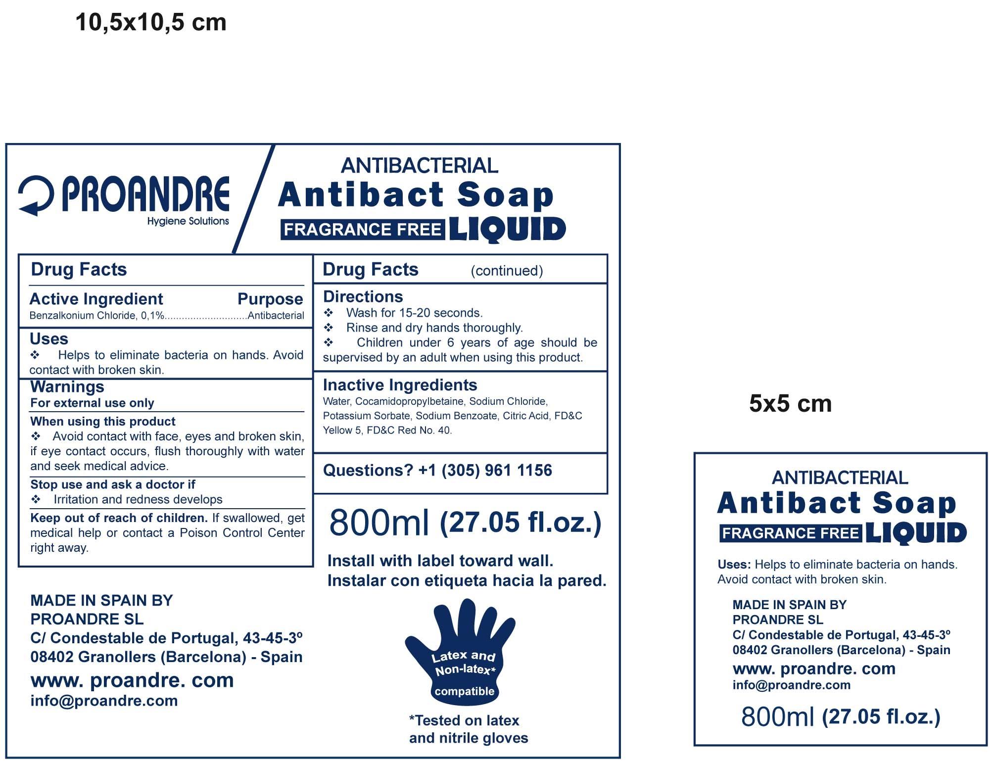 Proandre (Benzalkonium Chloride) Liquid [Proandre, Sl]