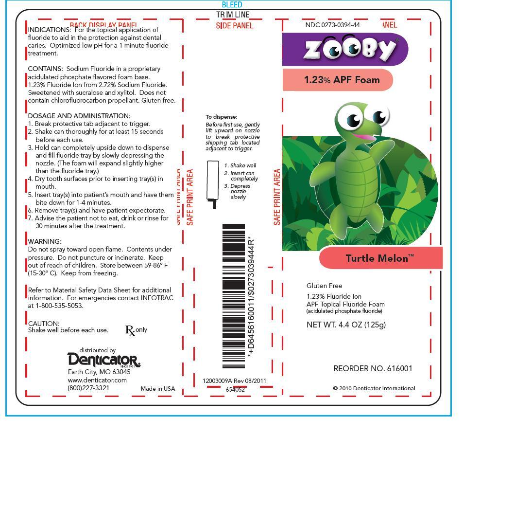Zooby Turtle Melon (Sodium Fluoride) Aerosol, Foam [Young Dental Manufacturing Co 1, Llc]
