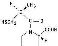 Captopril Structural Formula
