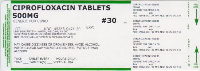 Ciprofloxacin Tablet [Medsource Pharmaceuticals]