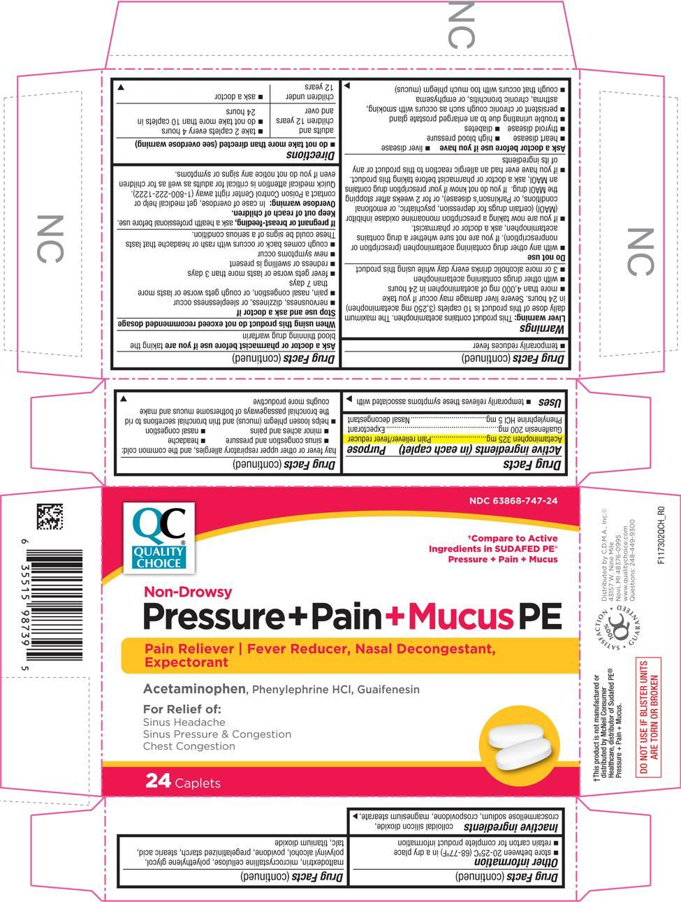 Pressure Pain Mucus Pe (Acetaminophen, Guaifenesin, And Phenylephrine Hydrochloride) Tablet, Coated [Chain Drug Marketing Association]