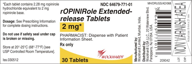 Ropinirole Hydrochloride Tablet, Film Coated, Extended Release [Wockhardt Limited]