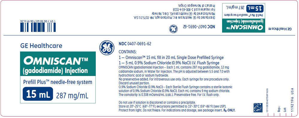 PRINCIPAL DISPLAY PANEL - 15 mL Syringe Label