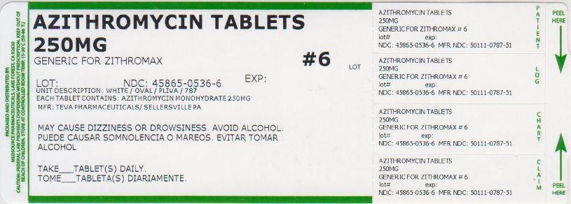 Azithromycin Tablet, Film Coated [Medsource Pharmaceuticals]