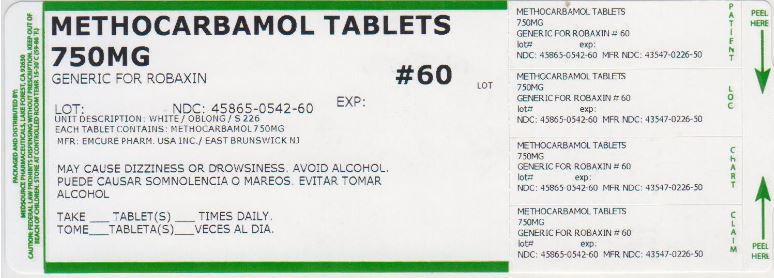 Methocarbamol Tablet [Medsource Pharmaceuticals]