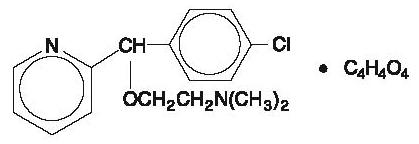 carbinoxamine maleate chemical structure