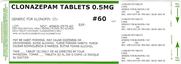 Clonazepam Tablet [Medsource Pharmaceuticals]
