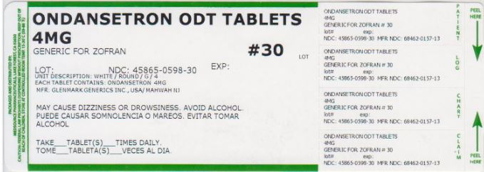 Ondansetron Tablet, Orally Disintegrating [Medsource Pharmaceuticals]