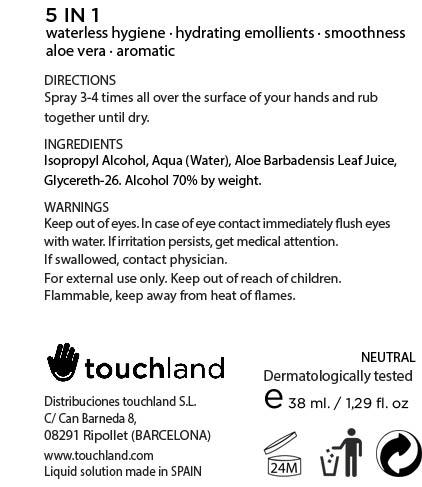 Touchland Kub2go Hand Sanitizer Neutral (Alcohol) Liquid [Distribuciones Touchland S.l.]