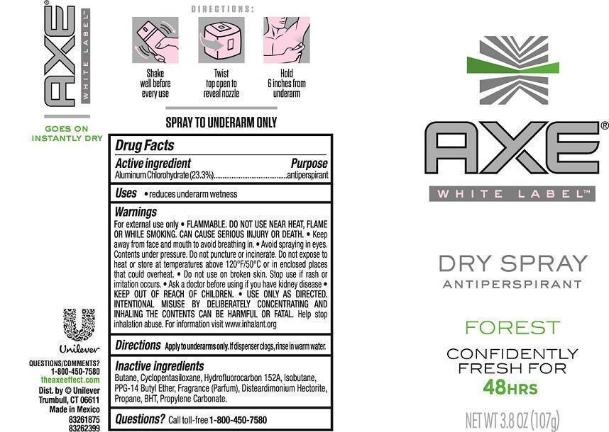 Axe Forest Antiperspirant (Aluminum Chlorohydrate) Aerosol, Spray [Conopco Inc. D/b/a Unilever]