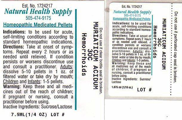Hemmorhoids (Hydrochloric Acid) Pellet [Natural Health Supply]