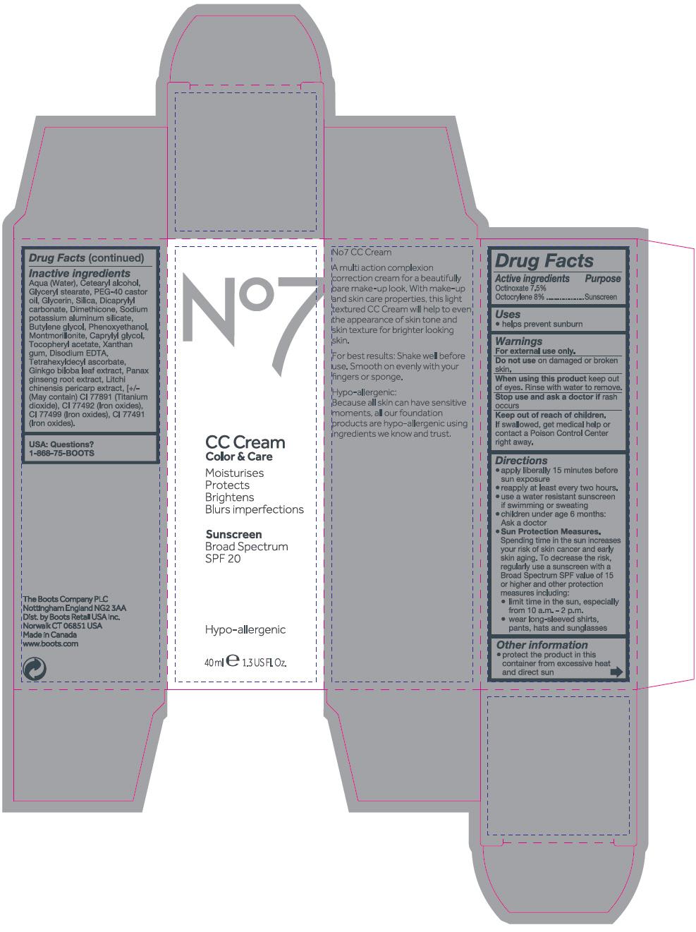 No7 Cc Light (Octocrylene And Octinoxate) Emulsion No7 Cc Medium (Octocrylene And Octinoxate) Emulsion [Cosmetica Laboratories Inc.]