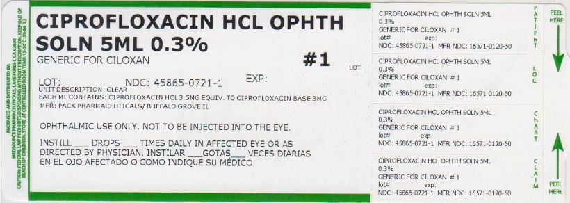 Ciprofloxacin (Ciprofloxacin Hydrochloride) Solution/ Drops [Medsource Pharmaceuticals]