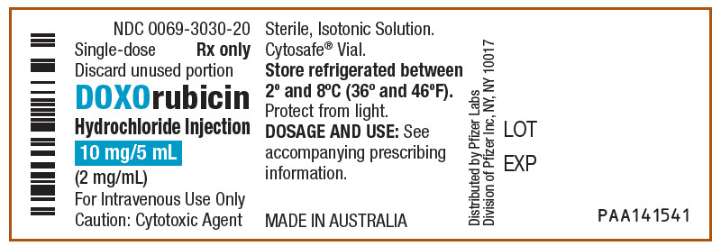 Doxorubicin Hydrochloride Injection, Solution [Pfizer Laboratories Div Pfizer Inc]