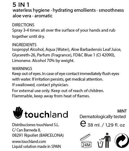 Touchland Kub2go Hand Sanitizer Mint (Alcohol) Liquid [Distribuciones Touchland S.l.]