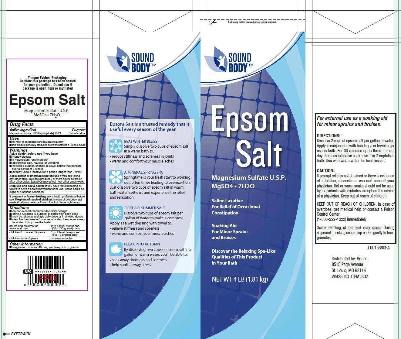 Epsom Salt (Magnesium Sulfate) Granule, For Solution [Meijer Distribution, Inc]