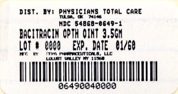Bacitracin Carton Label