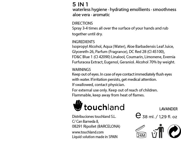 Touchland Kub2go Hand Sanitizer Lavender (Alcohol) Liquid [Distribuciones Touchland S.l.]
