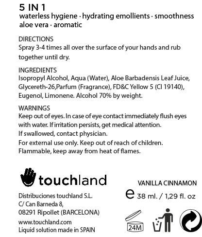 Touchland Kub2go Hand Sanitizer Vanilla (Alcohol) Liquid [Distribuciones Touchland S.l.]
