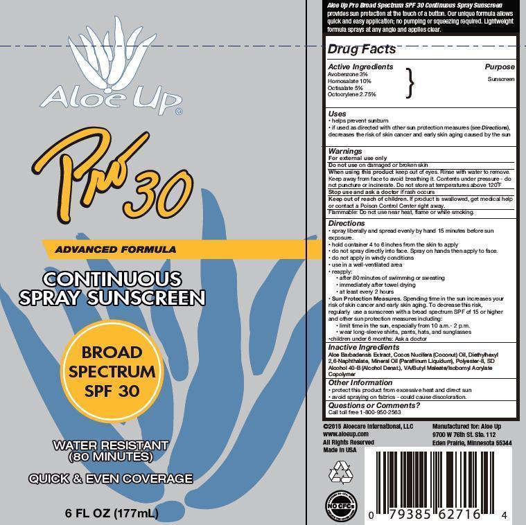 Aloe Up Broad Spectrum Spf 30 (Avobenzone, Homosalate, Octisalate And Octocrylene) Spray [Prime Packaging Inc.]