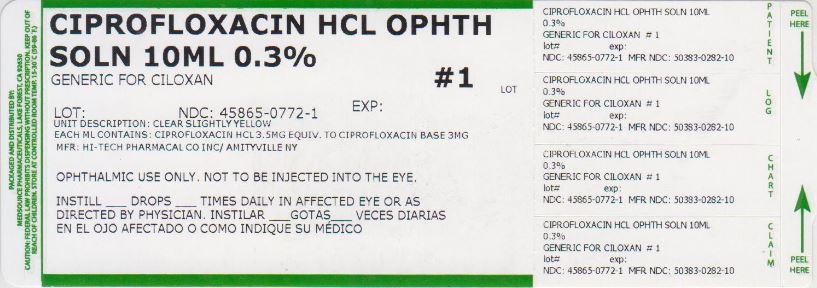 Ciprofloxacin Solution/ Drops [Medsource Pharmaceuticals]