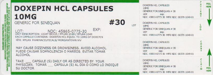 Doxepin Hydrochloride Capsule [Medsource Pharmaceuticals]