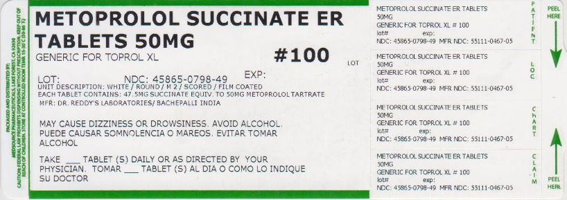 Metoprolol Succinate Tablet, Extended Release [Medsource Pharmaceuticals]