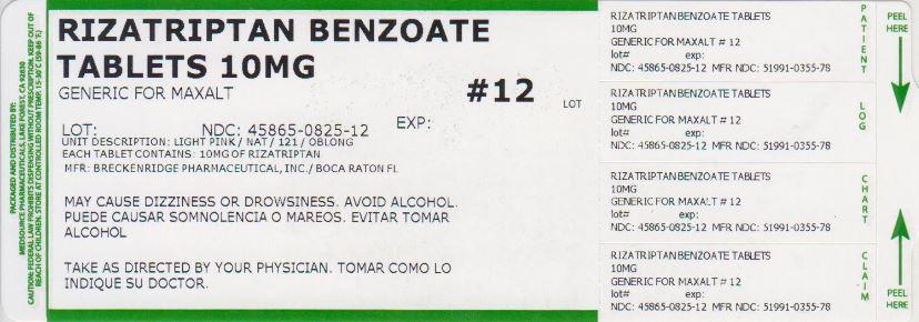 Rizatriptan Benzoate Tablet [Medsource Pharmaceuticals]