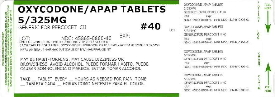 Oxycodone And Acetaminophen Tablet [Medsource Pharmaceuticals]