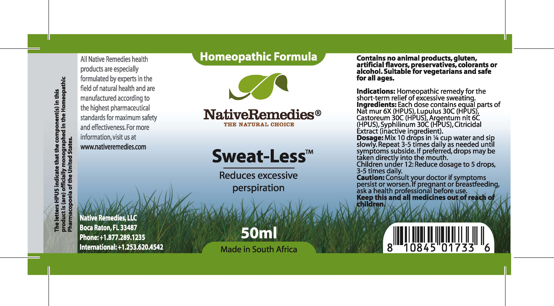 Sweat-less (Nat Mur , Lupulus, Castoreum , Argentum Nit , Syphilinum ) Tincture [Feelgood Health]