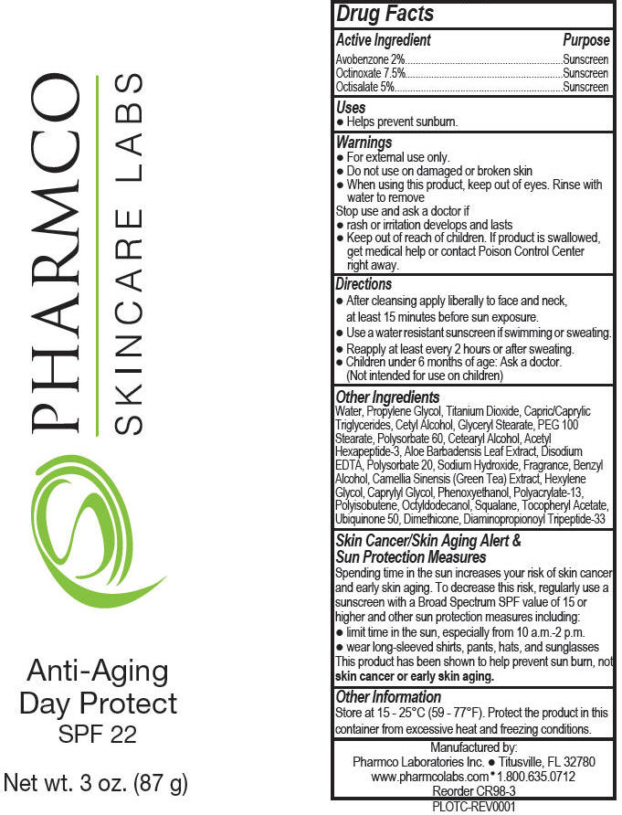 Anti-aging Day Protect Spf 22 (Octinoxate, Octisalate, And Avobenzone) Lotion [Pharmco Laboratories Inc.]