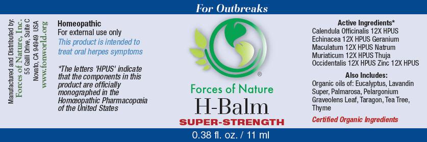 H-balm (Calendula Officinalis Flowering Top, Geranium Maculatum Root, Sodium Chloride, Thuja Occidentalis Leafy Twig, Zinc, And Echinacea Angustifolia) Solution/ Drops [Forces Of Nature]