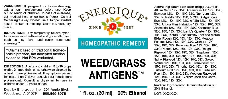 Weed Grass Antigens