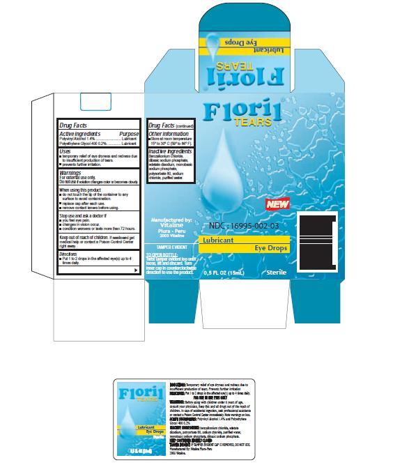 Floril Tears (Polyvinyl Alcohol ) Solution/ Drops [Vitaline S.a.c.]