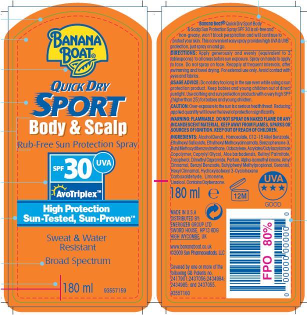 PRINCIPAL DISPLAY PANEL Banana Boat Sport Body and Scalp SPF 30