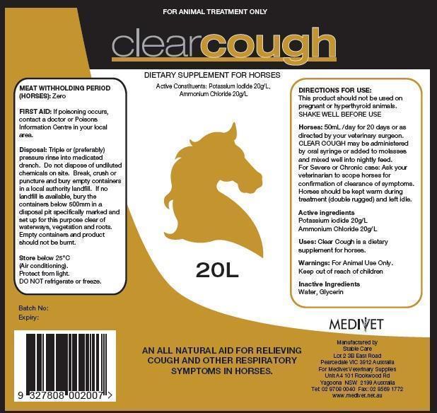 Clear Cough (Potassium Iodide And Ammonium Chloride) Solution [Medivet Pty Ltd]