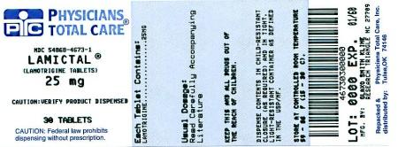 LAMICTAL IR 25 MG label
