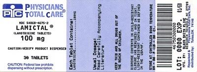 LAMICTAL IR 100mg label