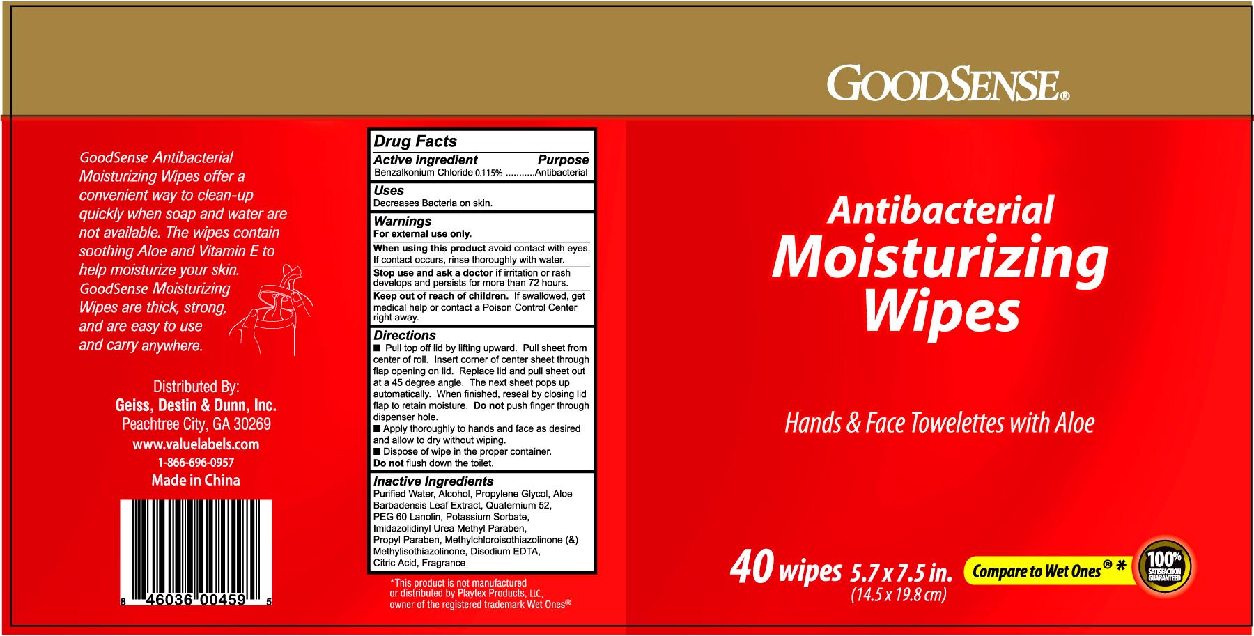 Goodsense Antibacterial Moisturizing (Benzalkonium Chloride) Film [Geiss, Destin And Dunn, Inc.]