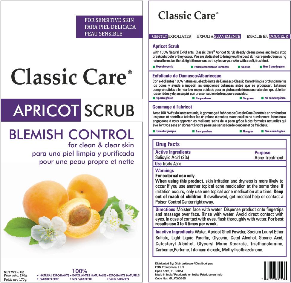 Classic Care Apricot Scrub Blemish Control (Salicylic Acid) Cream [Fdn Enterprises, Llc]