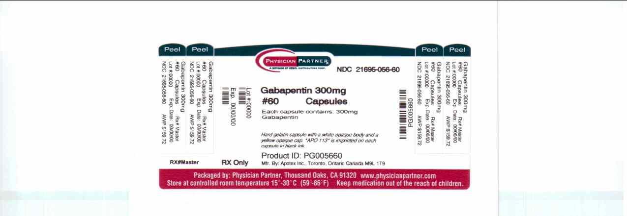 image of Gabapentin 300 mg package label