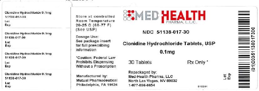 Clonidine Hydrochloride Tablet [Med-health Pharma, Llc]