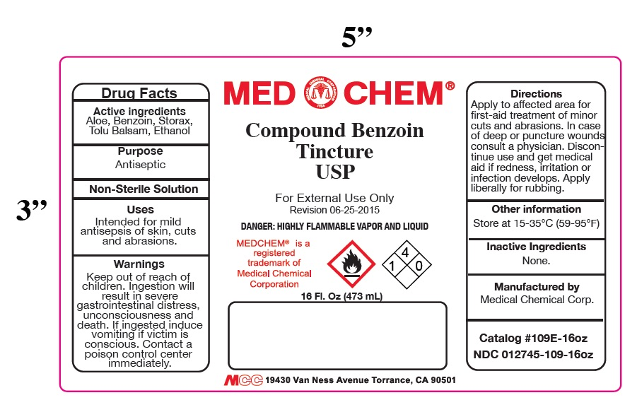 Compound Benzoin Tincture (Tincture Of Benzoin) Liquid [Medical Chemical Corporation]