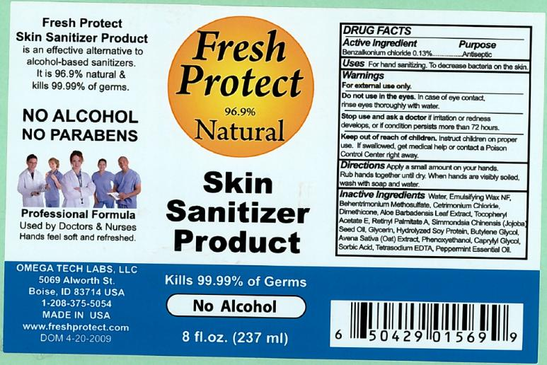 Fresh Protect Skin Sanitizer (Benzalkonium Chloride) Lotion [Omega Tech Labs Inc.]