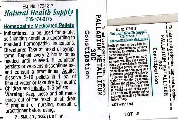 Constipation (Palladium) Pellet [Natural Health Supply]