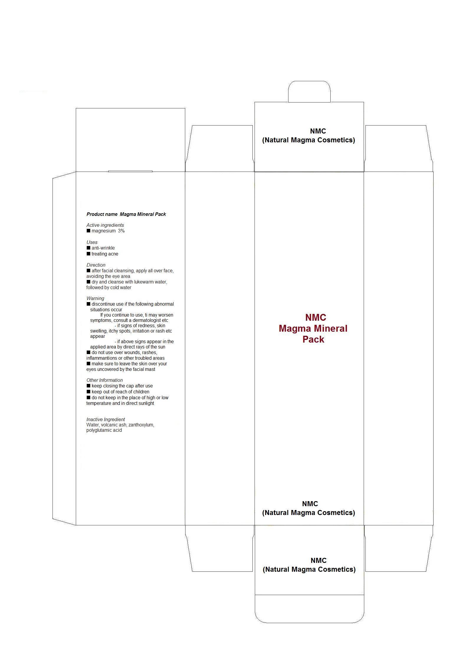 Nmc Magma Mineral Pack (Magnesium) Plaster [Nmc (Natural Magma Cosmetics)]