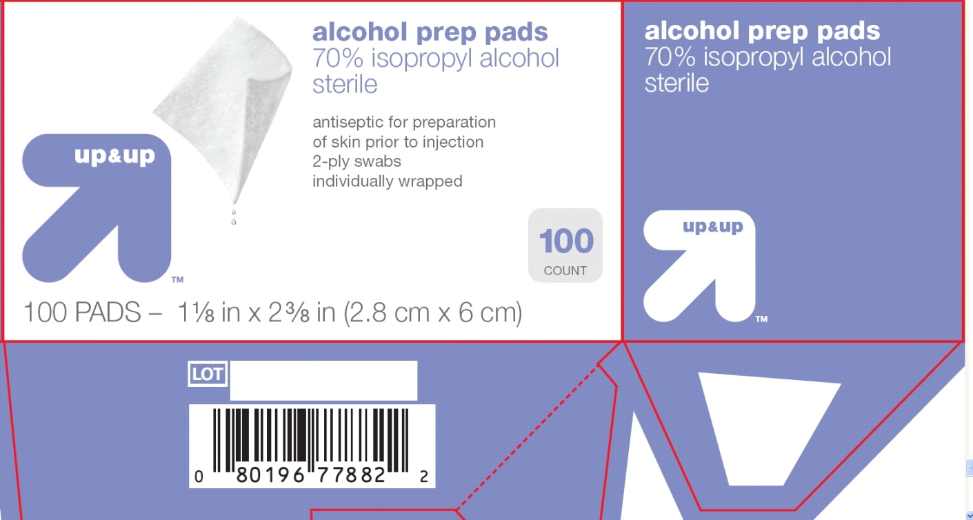 Target Up&Up Alcohol Swabs, front principal display panel