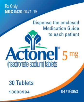 PRINCIPAL DISPLAY PANEL Rx Only NDC 0430-0471-15 Actonel (risedronate sodium) tablets 5 mg 30 Tablets