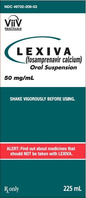 Lexiva (Fosamprenavir Calcium) Tablet, Film Coated Lexiva (Fosamprenavir Calcium) Suspension [Viiv Healthcare Company]